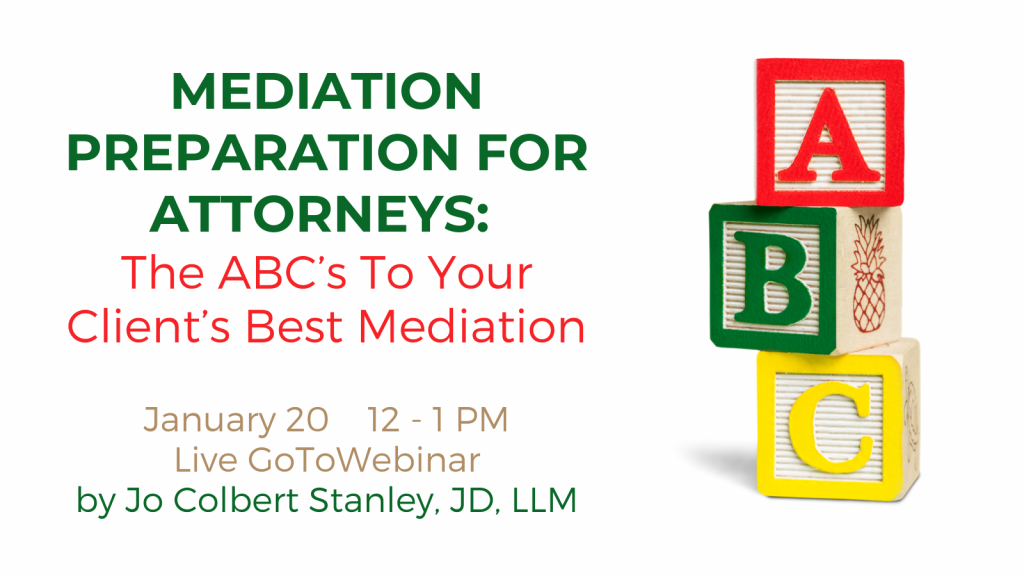 ABCs of Client Preparation for Mediation