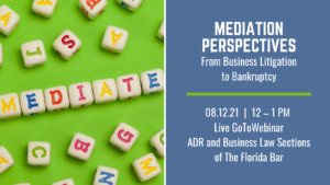 Mediation Perspectives: From Business Litigation to Bankruptcy